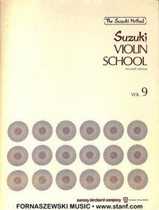Suzuki Violin School - Violin Part - Volume 9 - Fornaszewski Music Store, Granite City IL 62040 - www.stanf.com