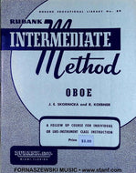 Rubank Intermediate Method - Oboe Book - Fornaszewski Music Store, Granite City IL 62040 - www.stanf.com