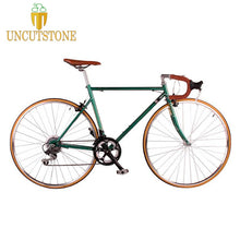 Load image into Gallery viewer, road bicycle fixie bike 700C vintage Fixed Gear bike Track 14 speeds road Bike