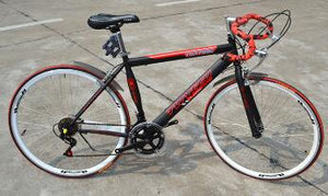 Cycling Road 26 Inch 21 Speed Double Disc Brake System High Carbon Steel Rigid Frame City Commuter
