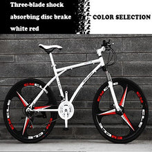 Load image into Gallery viewer, 26-Inch Variable Speed Fast Flying Bicycle Men's Road Racing Double Disc Brake Solid Tire Shock Absorbing Bicycle Adult Students