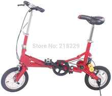 Load image into Gallery viewer, 13% To Singapore Japan asian free !! 12'' inch mini folding bicycle/folding bike  the special gift/ various color /portable bike