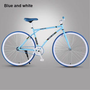 26 inch Road Bicycle Fixed Gear BIke Brake Fine Tire Lightweight Adult Track Single Speed Bicycle Adult student