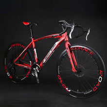 Load image into Gallery viewer, Road Bike Fixed Gear Bicycle 26 inch 24/27 Speed Shift Bend Double Disc Brake Adult Student  Men And Women