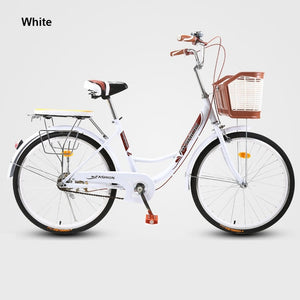 20/24/26 Inches Retro Fixed Gear Bike Handy Commuting Travel Adult Bicycle Lady Student Men And Women