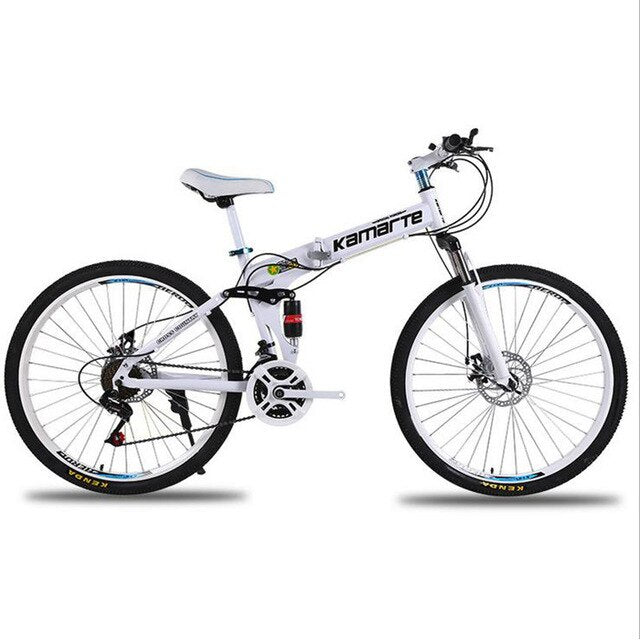 Bicycle Mountain Bike 26-inch Mountain Bike 21 Speed Spoke Wheel Folding Bicycle with Double Shock Absorption