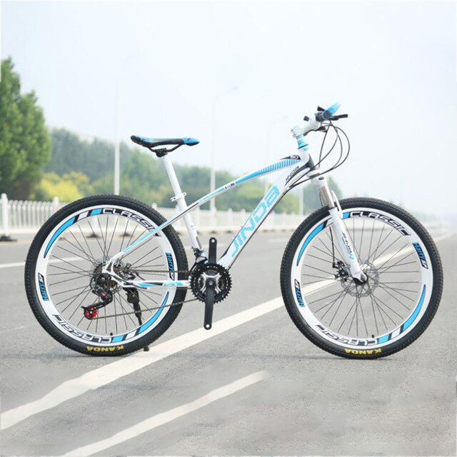 The new advanced Aluminum Alloy material 26 inch 21 speed steel 40 knife Straight handlebar Cycling factory mountain bik