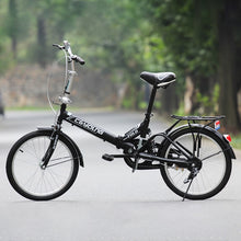 Load image into Gallery viewer, 20 Inch 21Speed Folding Bicycle Adult Carbon Steel Folding Bicycle Double Disc Brake 3 orders 2019 New Bike