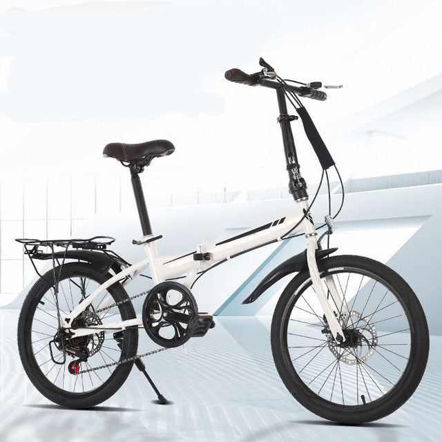 20 Inch 21Speed Folding Bicycle Adult Carbon Steel Folding Bicycle Double Disc Brake 3 orders 2019 New Bike