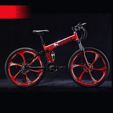 Load image into Gallery viewer, X-Front Mountain Bike 24/26 inch wheel carbon steel 21/24/27 speed outdoor downhill BTX bicicleta disc brake foldable bicycle