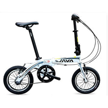 "Load image into Gallery viewer, JAVA X3 Aluminum Folding Bike 14"" V Brake Inner 3 Speed Bike Urban Commuter Bicycle Foldable"