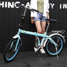 Load image into Gallery viewer, 20 inch Mountain bike off-road male female wheel folding bicycle dual disc brakes variable mountain bike bicycles road bike