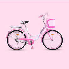 Load image into Gallery viewer, Bicycle  Women's Bike 20 Inch Commuter City Retro Ladies Students Grils Leisure Light Car 2019 New Safer