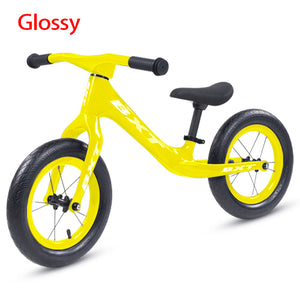 "Push bike 12"" carbon kid bike balance super light 1.95kg complete T800 carbon fiber body bike no pedal easily lift child bicycle"