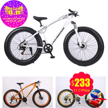 Load image into Gallery viewer, NEW Mountain Bike 26-inch 7/21/24/27 Speeds Bicycles Dual Disc Brakes Variable Speed Road Bikes Racing Bicycle