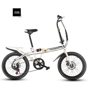 New Brand Man's BMX Bike 20 inch Wheel Carbon Steel Frame Soft-Tail Disc Brake Folding Bicicleta Children Lady's Bicycle