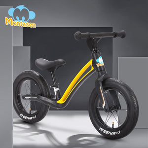 MONTASEN Kids' Bike Baby Balance Bike Improve Balance Cycle Walk Cycling Scooter No-Pedal Best Gift Children's Balance Bike 12in