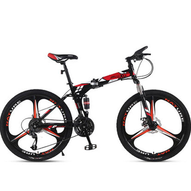 Mountain Bike Folding  Speed Double Shock Disc Brakes Adult Male and Women Students Bicycle Best Seller