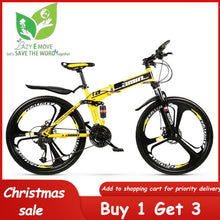 Load image into Gallery viewer, 26 inch Folding Mountain Bike 21 Speed Bicycles Dual Disc Brakes Off-Road Bikes Racing Bicycle BMX MTB Snow Bike Chrismas Gift