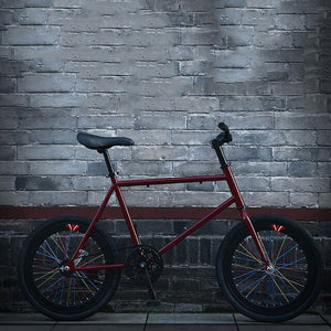 Road Bike Fixed Gear 20 Inch Adult Students Aluminum Alloy Rim Men and Women Mini Bicycle Light New Cool Tide