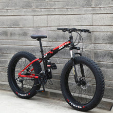 Load image into Gallery viewer, Mountain Bike 24 Inches 24 Speed Double Disc Brake Spoked Wheel 4.0 Widened Tires Both Men and Women