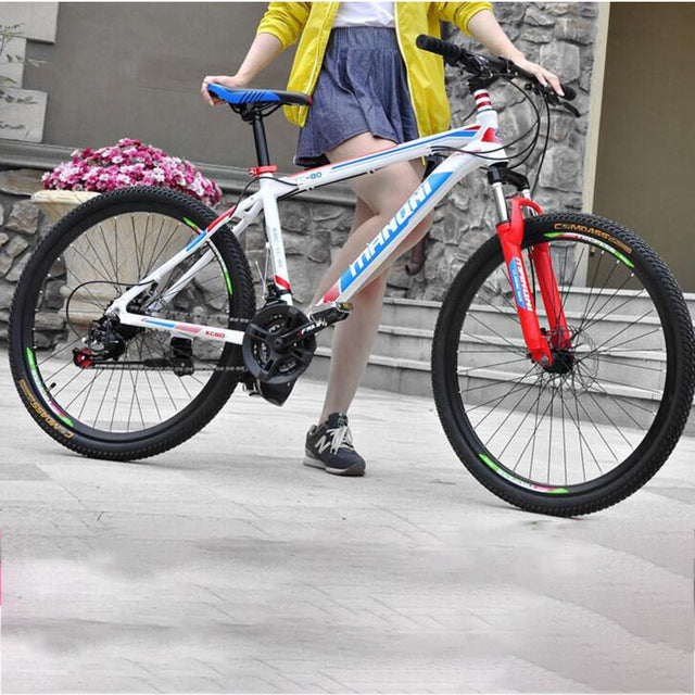 26 inch 21-speed high-carbon steel Material Accessories Free shipping Bicycle