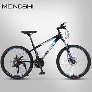 Mondshi24 inch mountain bike 24 speed disc brake damping front fork