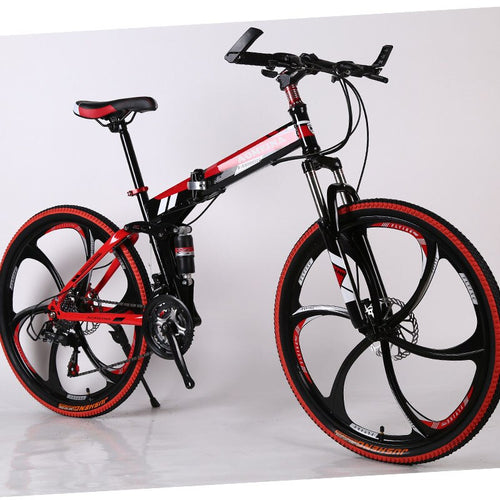 26-inch Folding Mountain Bike Driving Adult Variable Speed Double Shock Absorber Student Racing Cross-country Bicycle.
