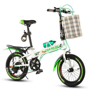 Folding Bike Adult 16-Inch Speed Change Bicycle Student Folding Bicycle