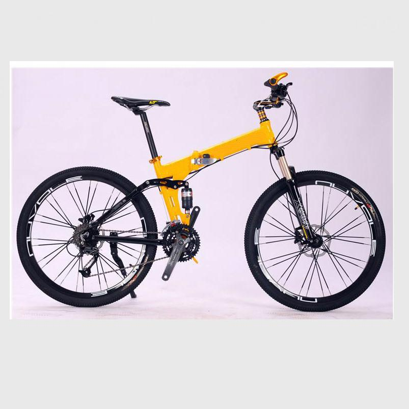 Kalosse Folding frame    26*2.125  DIY colors  bicycle  21/24/27/30 speed  Hydraulic brakes , mountain bike woman