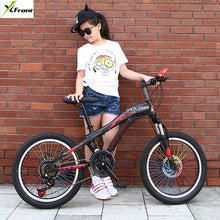 Load image into Gallery viewer, New Brand Mountain Bike Carbon Steel 21 Speed 20/24 inch Wheel Child Lady Student Bicycle Outdoor Sport Disc Brake BMX Bicicleta