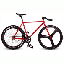 Load image into Gallery viewer, Magnesium Alloy Wheel 3 spokes fixie Bicycle, Fixed gear bike 700C *23 70mm Rim  52cm FRAME  DIY BIKE Complete Road Bike