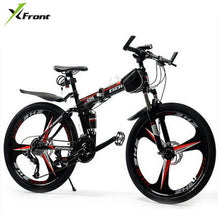 Load image into Gallery viewer, New X-Front brand 26 inch wheel 21/24/27 speed carbon steel frame mountain bike outdoor downhill folding bicicleta MTB bicycle