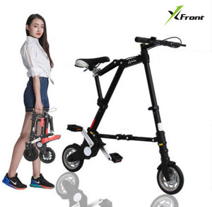 New Xfront Abike unisex 8 inch wheel mini ultra light folding bike subway transit vehicles road bicycle outdoor sports bicicleta