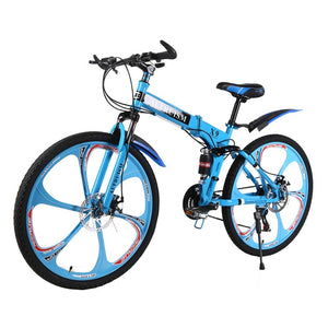 ALTRUISM Unisex Steel Hard Frame (Non-rear Damper) Double Disc Brake 26*21(160-185cm) Alloy Rim Folding Mountain Bicycl