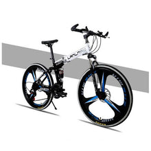 Load image into Gallery viewer, Factory direct selling folding mountain bike, bicycle double shock absorber, soft tail frame, integrated bicycle, mountain bike.