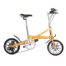 Load image into Gallery viewer, 14-inch folding bicycle aluminum alloy 7-speed lightweight bike Can be pushed away after folding aluminum bicycle