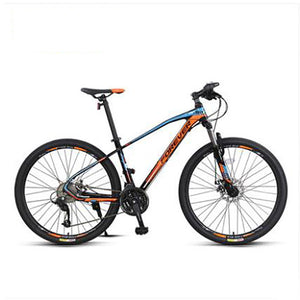 Mountain Bicycle Cross Country Aluminum Alloy Double Shock Absorption 30 Speed Variable Speed for Male Adults