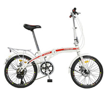 Load image into Gallery viewer, High Carbon steel Disc Brake Folding Bicycle Ultralight 20 Inches for Men and Women