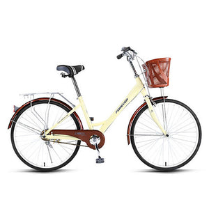 Students Bike Lady Commuting Ordinary Light Variable Speed  24 Inches Fashion Commuter Bicycle,High Carbon Steel Frame