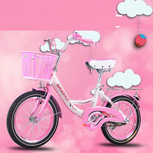 Children's Bicycle 20 Inches Princess Big Boy Primary School Student Basket Bike Boy Girl Baby Double Brake Leisure Commuter