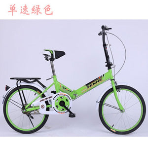 Folding Bicycle 20-inch Adult Fast  Normal Foot Brake After The Mini Blender Super Light