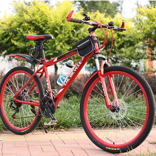 Mountain Bike 26 Inches 21 Speed  Double Disc Brake Double Disc Brake Student Bicycle