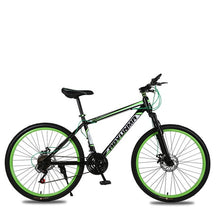 Load image into Gallery viewer, Mountain Bicycle 26 Inch 21 Speed Shock Absorber Double Disc Brake Student Bike Colofull