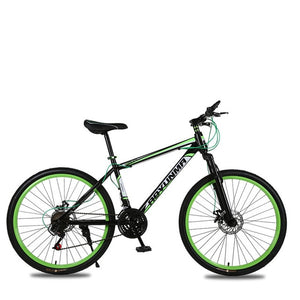 Mountain Bicycle 26 Inch 21 Speed Shock Absorber Double Disc Brake Student Bike Colofull