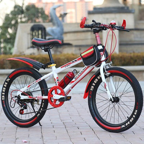 Variable Speed  Mountain Bike Children 22 Inches Shockproof Front Fork Rear Drum Brake