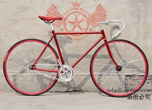 Road Bicycle  Fixed Gear Bike  Customize Completed fixie Bike, student Bicycle green frameType 700C wheel   52CM frame
