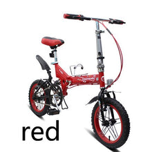 Load image into Gallery viewer, [TB05]16/14 inch pull wind micro mountain folding bike speed double shock male and female adult student bicycle