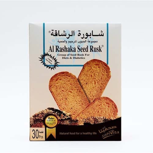 Al Rashaka Rusks Seeds for Diet and Diabetics 420 gms
