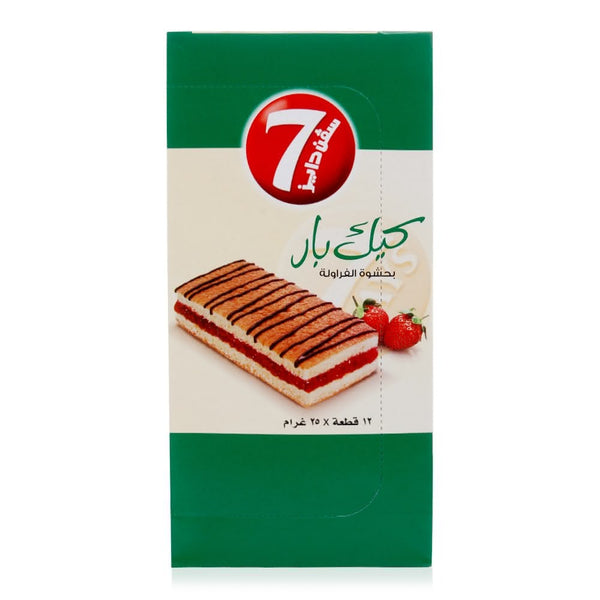 7 Days Cake Bar with Strawberry Filling - 12 x 25 g